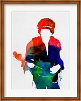 Framed Jimi Watercolor