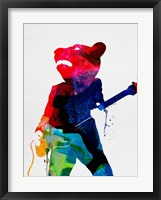 Framed Teddybear Watercolor