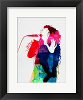 Framed Lorde Watercolor