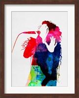 Framed Lorde Watercolor