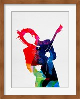 Framed Prince Watercolor