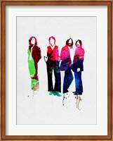 Framed Beatles Watercolor