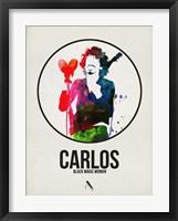 Framed Carlos Watercolor