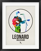 Framed Leonard Watercolor