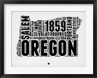 Framed Oregon Word Cloud 1