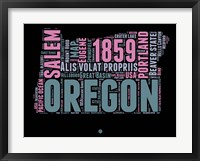 Framed Oregon Word Cloud 2
