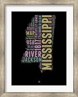 Framed Mississippi Word Cloud 1