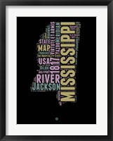 Framed Mississippi Word Cloud 1