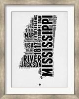 Framed Mississippi Word Cloud 2