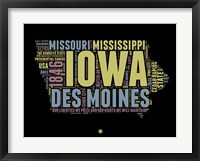 Framed Iowa Word Cloud 1