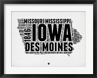 Framed Iowa Word Cloud 2