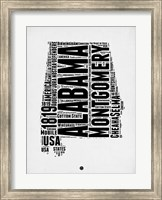 Framed Alabama Word Cloud 2