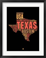 Framed Texas Word Cloud 1