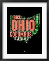 Framed Ohio Word Cloud 1