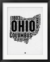Framed Ohio Word Cloud 2