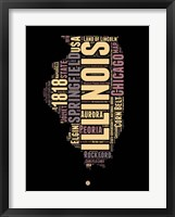 Framed Illinois Word Cloud 1