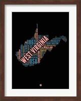 Framed West Virginia Word Cloud 1