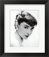 Framed Audrey Hepburn - Screen Test, c.1955