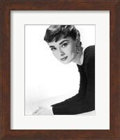 Framed Audrey Hepburn as Sabrina