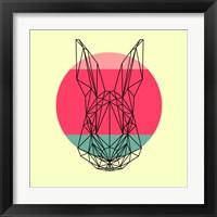 Framed Rabbit and Sunset