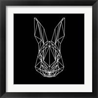 Framed Rabbit on Black