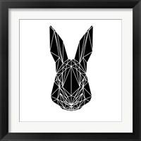 Framed Black Rabbit