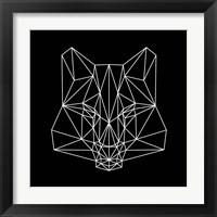 Framed Fox on  Black