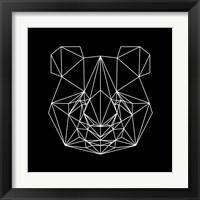 Framed Panda on Black