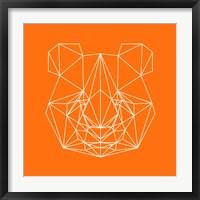 Framed Panda on Orange