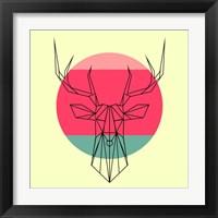 Framed Deer and Sunset