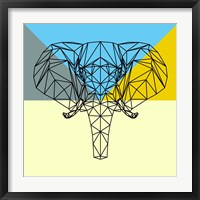 Framed Party Elephant Polygon