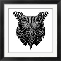 Framed Black Owl Head Mesh