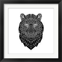Framed Black Tiger Head