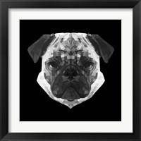 Framed Pug Head
