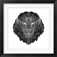 Framed Lion Head Black Mesh 2