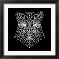 Framed Panther Head Black Mesh