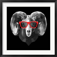 Framed Ram in Red Glasses