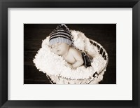 Framed Baby in Wire Basket