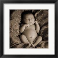 Framed Baby in Sepia 1