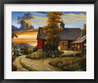 Framed Farm Scene
