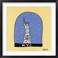 Framed N.Y.C. Snow Globe