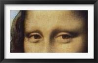 Framed Mona Lisa - Detail Of Eyes