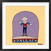 Framed Dallas Snow Globe