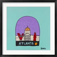 Framed Atlanta Snow Globe