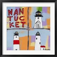 Framed Nantucket Lighthouses