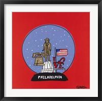 Framed Philadelphia Snow Globe