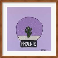 Framed Phoenix Snow Globe