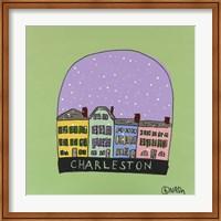Framed Charleston Snow Globe