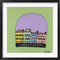 Framed Charleston Snow Globe