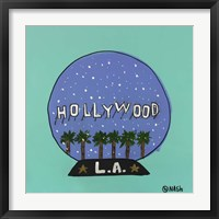Framed L.A. Snow Globe